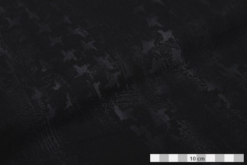 cef7ed230cc7 BAVLNA VZOROVANÁ černo-šedá flek. riflovina