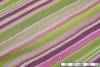 HEDVÁBÍ ŠIFON zeleno-fialové pruhy 0074f3c686b